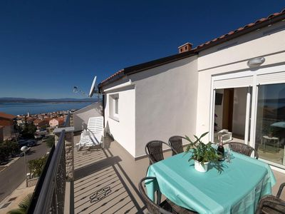 Photo for Two bedroom apartment with terrace and sea view Crikvenica (A-12116-c)