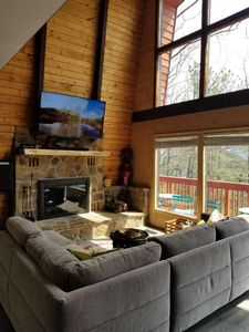 Photo for Be surprised! Stylish Mtn Lodge w/expansive view of Mt. Leconte. Newly available
