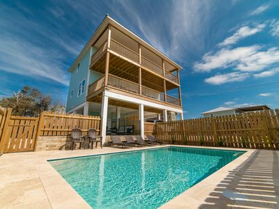Photo for No Hurricane Damage! Newly built with private heated pool.  Beautifully decorated with Ocean Views.  Walking distance to Beach & Trading Post!