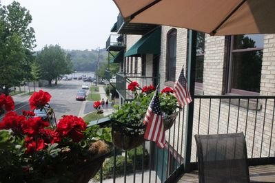 Views of the harbor from your spacious deck!