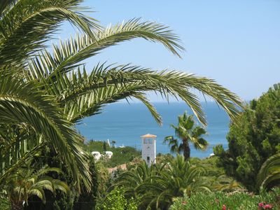 Photo for Location nice and quiet apartment with sea views in the Algarve (Armacao de Pera)
