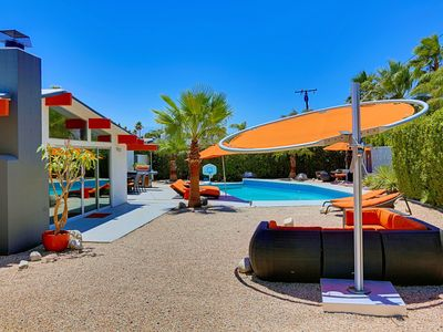 "Photo for ""Orange Oasis"" Mid Century Modern, Pool & Mountain Views"