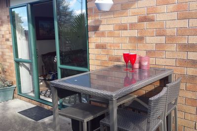 Enjoy the sunny outside bbq area