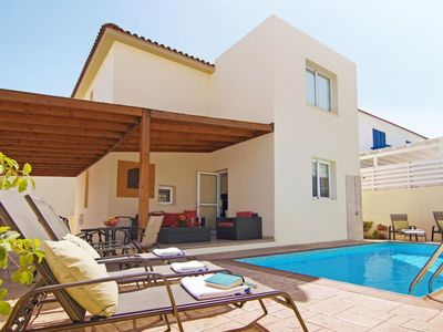 Photo for This 3-bedroom villa for up to 6 guests is located in Pernera and has a private swimming pool and Wi