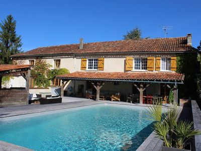 Photo for Fabulous 10 bedroom house with private pool, tennis and stunning views