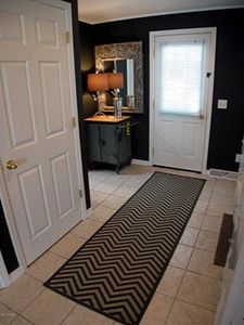 Entry way (showing closet with washer and dryer)