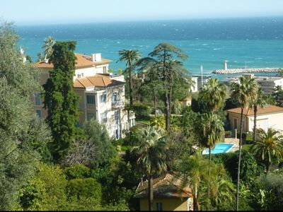 Photo for Luxurious apartment in Belle Èpoque villa with sea views