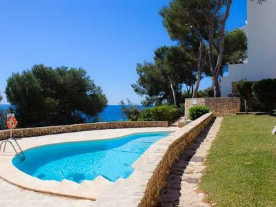 Photo for 3 bedroom Apartment, sleeps 6 in Cala Serena with Pool and Air Con
