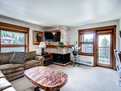Photo for Mountain views, shared pool and hot tub and ski-in/ski-out access