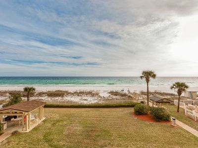 Photo for Condo on the beach with incredible views, jet tub, and shared pool!
