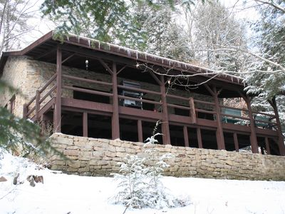 Photo for Private Riverfront Solid Stone Cottage on 18 Acres of Forestland on the Clarion