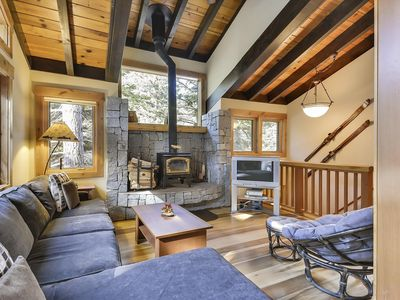 Photo for There is Nothing Better Than a True Tahoe Cabin Experience. Perfect Winter Chalet with Attached Garage. 2 Miles from the Base of Alpine Meadows and 4.5 Miles from Squaw Valley! BONUS- FREE ACTIVITIES!