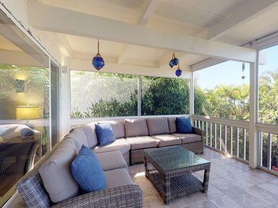 Photo for Ocean view walk-out level features a magnificent lanai and open air kitchen