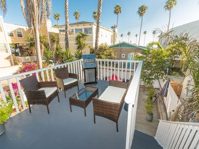 Photo for Vintage Balboa Village Vacation Cottage - Upper Unit - One House from the Beach!