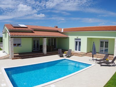 Photo for Brand new villa near Svetvincenat with private pools, trampolines and fitness