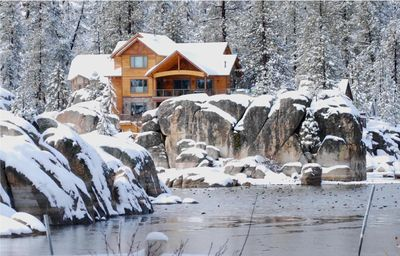 Photo for BOULDER COVE,  LUXURY BIG BEAR LAKEFRONT ON THE POINT OF BOULDER BAY