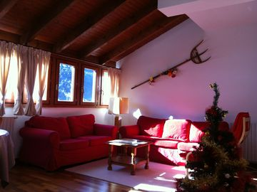 Apartment of 65 m2, sunny, 500 m from the slopes