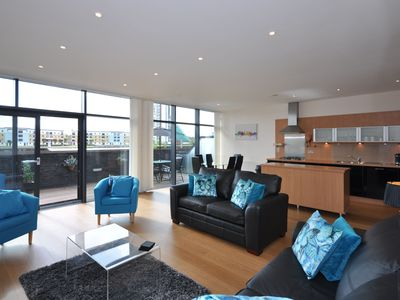 Photo for Stunning Luxury Apartment Glasgow (River view, huge balcon,y near Hydro/SEC)