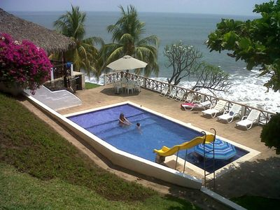 Photo for AMAZING BEACH HOUSE ON A CLIFF, Spectacular OCEAN VIEWS & private beach access