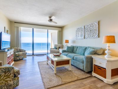 Photo for Gorgeous views from this tasteful updated Gulf Front Condo!