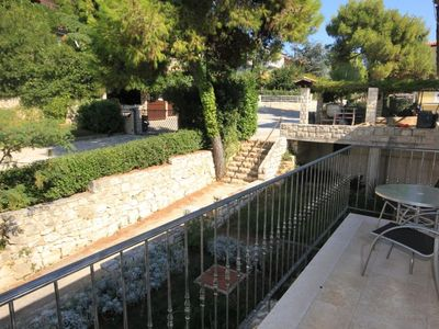 Photo for One bedroom apartment with terrace and sea view Rovinj (A-3373-b)