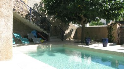 Photo for NEW! Beautiful period house with pool, in 'Picpoul' village; 15 mins to beaches