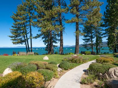 Photo for Luxury Lakefront Townhome - spectacular views, outdoor pool, hot tub & more!: Sierra Shores 3BR Townhome
