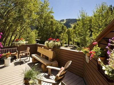 View of Aspen Mountain from main deck