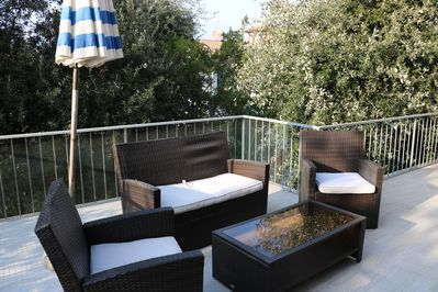 The sitting area on the Terrace recently renovated
