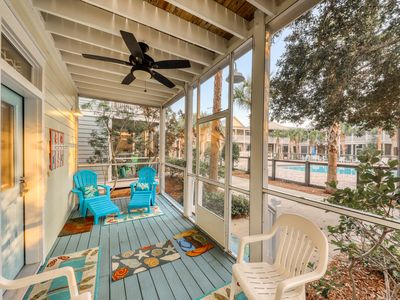 Photo for Relaxing home w/ 2 shared pools, hot tub, playgrounds, etc - 1 mile from beach