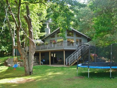 Photo for Waterfront Luck Cabin w/Bone Lake Views & ZipLine!