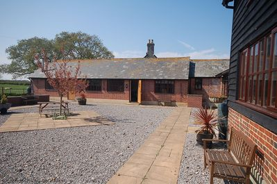 Shared outside area with adjoining holiday cottages