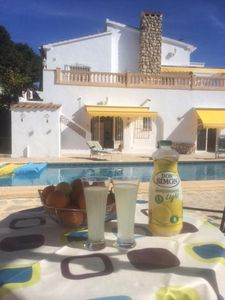 Photo for Beautiful Detached Villa with large private pool, free WiFi & Family Friendly.