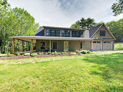 Photo for Brand-New 5BR w/ Wraparound Porch & Water Access, 5 Minutes to Boothbay