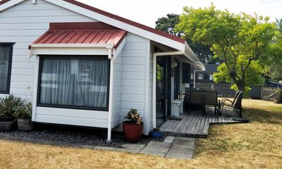 Photo for Family friendly Lockwood Bach 5 mins walk to ocean