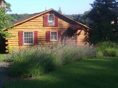 Photo for Exceptional Lakefront Rustic 1940 Log Cabin Getaway