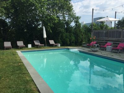 Photo for REAL Montauk  w/ pool, hot tub, high design in the heart of Montauk. Pets! View