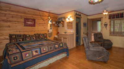 Photo for Whispering Pine Cabins - Aspen Cabin - Upper Canyon with Fireplace &  Kitchenette
