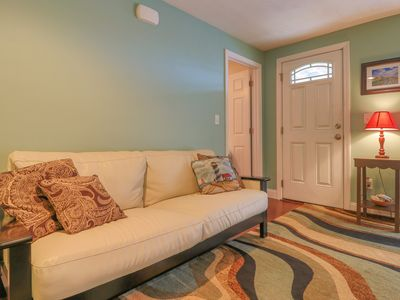 Photo for Cozy condo w/ private patio less than a mile from downtown Wells and the beach