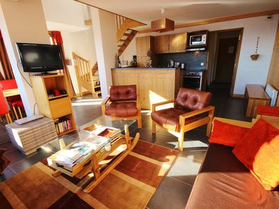 Photo for Beautiful apartment in Arcs 1600, sleeps 8 on slopes
