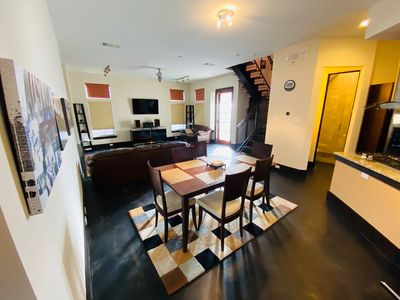 Photo for Modern Home - Great location - UT games -  BBQ Restaurants & fun DT area.