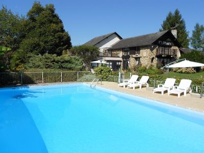Photo for House, cottage character, 16p, country, pool. Atlantic Pyrenees 64