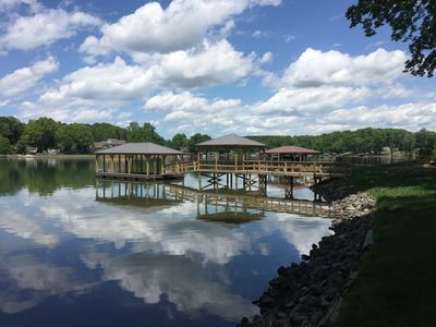 Brand new boathouse and gazebo