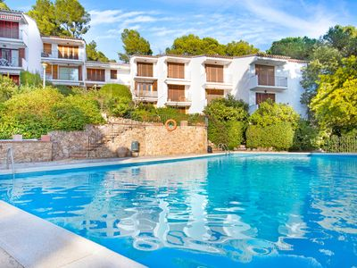 Photo for One bedroom Apartment, sleeps 4 in Llafranc with Pool and WiFi