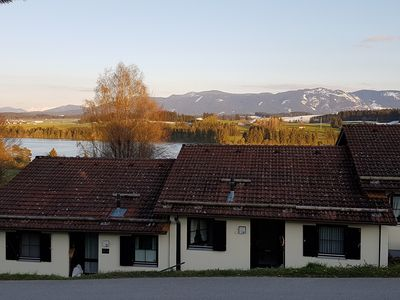 Photo for Cozy vacation home by the lake with a view of the mountains and the lake