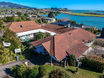 Photo for 11 bedrooms, a short walk into town and boasts some of the best views in Raglan!