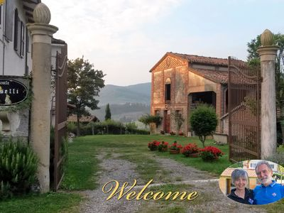 Photo for Ancient detached house in a peasant court, on the hills of Parma