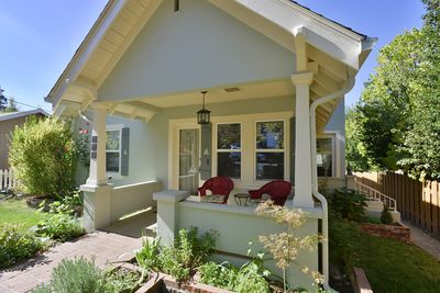 Shady front porch for morning coffee or evening glass of wine
