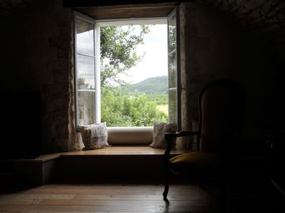 View over the Dordogne valley from the lounge window seat.