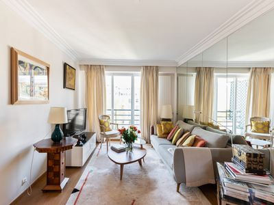 Photo for Bright and charming two-bedroom close to Eiffel Tower, Paris